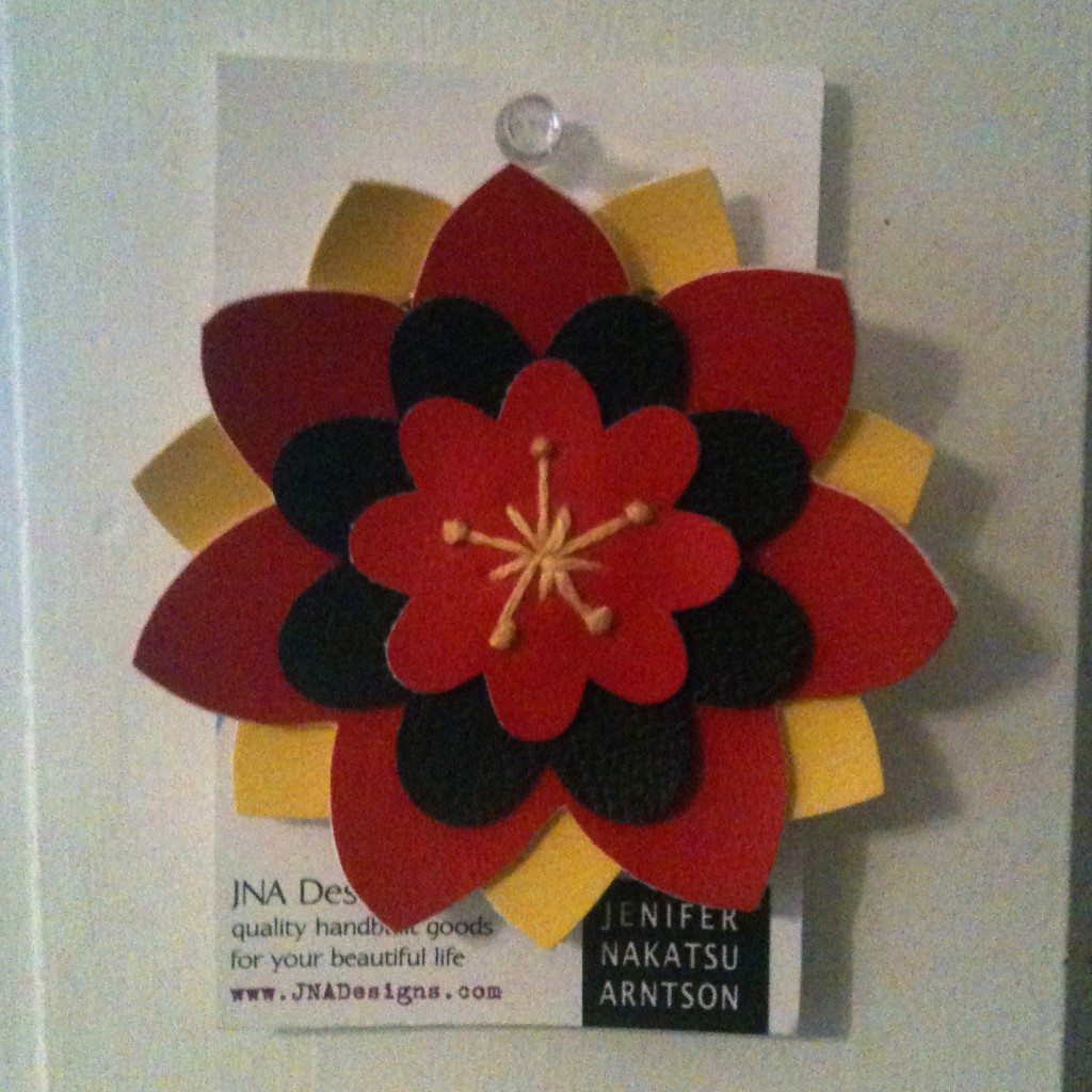 Large vinyl flower pin